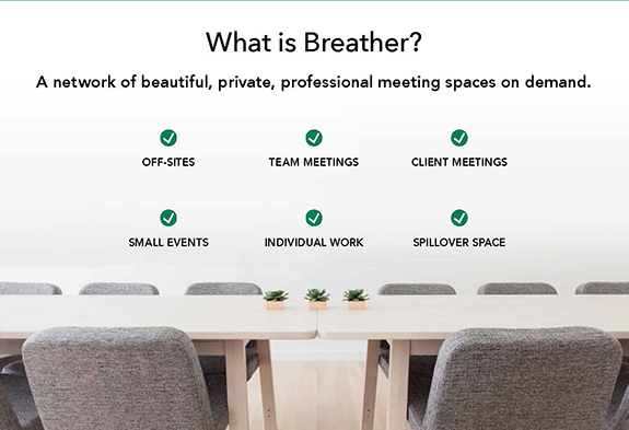 on-demand office space from Breather
