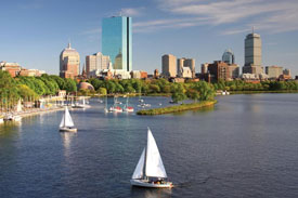 Boston Skyline over the Charles