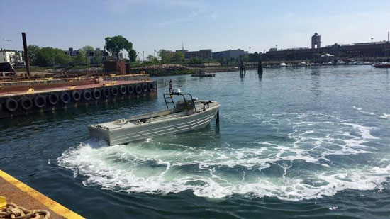 Self-driving boats in Boston