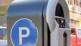Boston parking meter up close