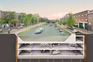 Amsterdam parking under water