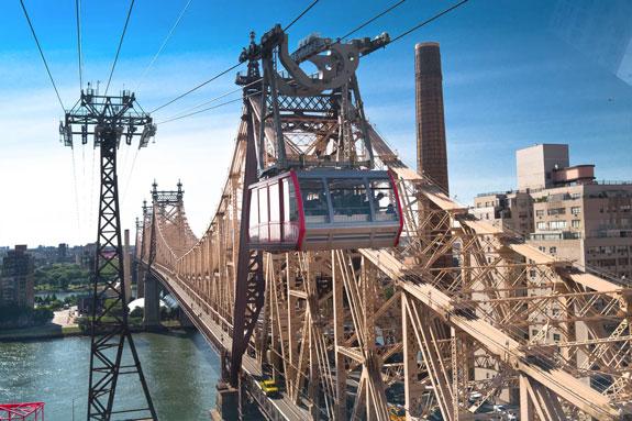 Gondola in city, like Boston