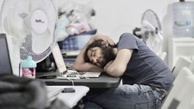 sleeping at office