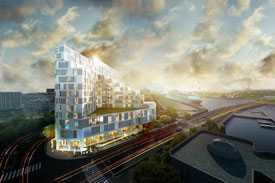 rendering of new office building in seaport